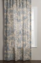Maison d' Hermine Miller 100% Cotton Curtain One Panel for Living Rooms Bedrooms Offices Tailored with a Rod Pocket and Loop for Easy Hanging (Blue, 50 Inch by 96 Inch).