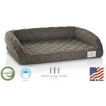 Brentwood Home Runyon Orthopedic Pet Bed, CertiPUR Gel Memory Foam Dog & Cat Lounge, Washable Cover, Waterproof Liner, Made in California, Mocha, Large