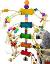 Bonka Bird Toys 1846 Pluck My Bobbins Bird Toy Parrot cage Toys Cages African Grey Amazon Conure