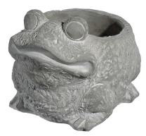 Classic Home and Garden 9/3461/1 Frog Planter, Small, Natural