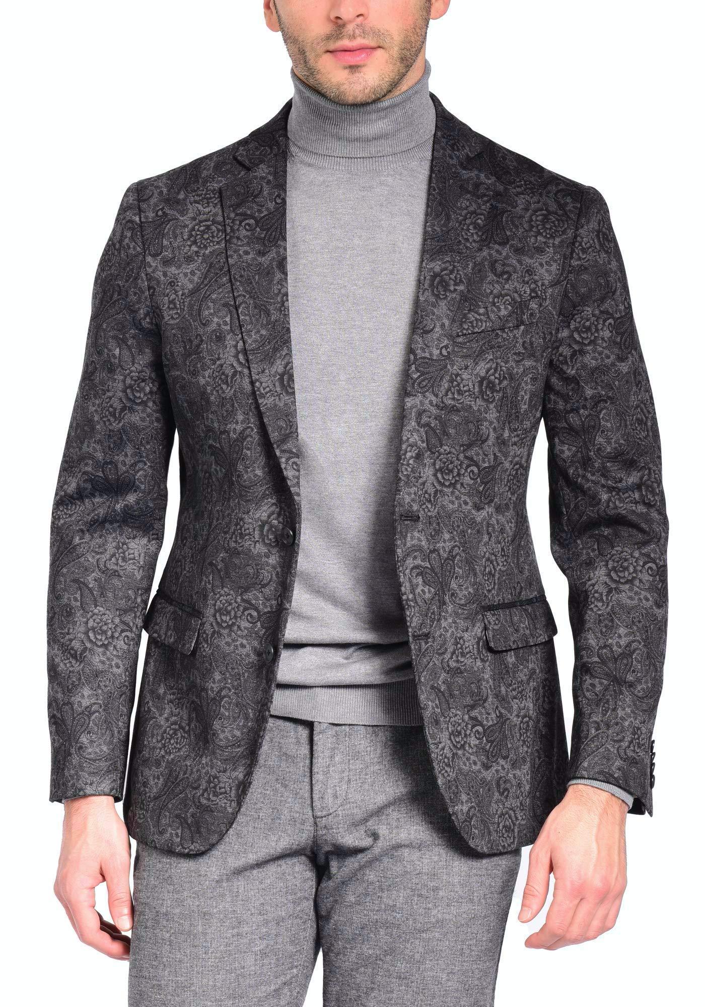 Craft & Soul Men's Slim Modern Fit Stretch Tailored Pattern Knit Blazer Jacket Sport Coat