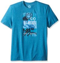 Life is Good Cool Go Places Jake Tee, Denim Blue