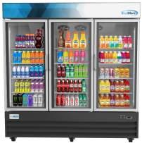 "Koolmore 78 1/4"" Commercial Glass 3 Door Display Refrigerator Merchandiser - Upright Beverage Cooler with LED Lighting - 53 Cu. Ft."