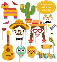 40 PCS Cinco De Mayo Photo Booth Props - Fiesta Mexican Party Decorations Supplies Favors