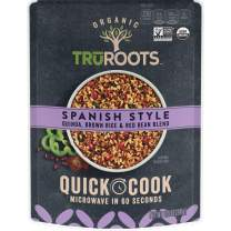 TruRoots Organic Quick Cook Quinoa, Brown Rice, and Red Bean Blend, Spanish Style, 8.5 Ounces (Pack of 8)