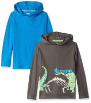 Amazon Brand - Spotted Zebra Boys' Light-Weight Hooded Long-Sleeve T-Shirts