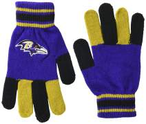 FOCO NFL Baltimore Ravens Multi Color Team Knit Glove, Team Color, One Size