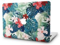 """KECC Laptop Case for MacBook Pro 13"""" (2020/2019/2018/2017/2016) Plastic Hard Shell Cover A2159/A1989/A1706/A1708 Touch Bar (Palm Leaves Red Flower)"""