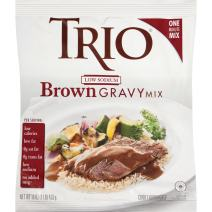 Trio Brown Gravy Mix, Low Sodium, Just Add Water, 16 oz Bag