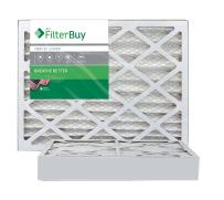 FilterBuy 14x25x4 MERV 8 Pleated AC Furnace Air Filter, (Pack of 2 Filters), 14x25x4 – Silver