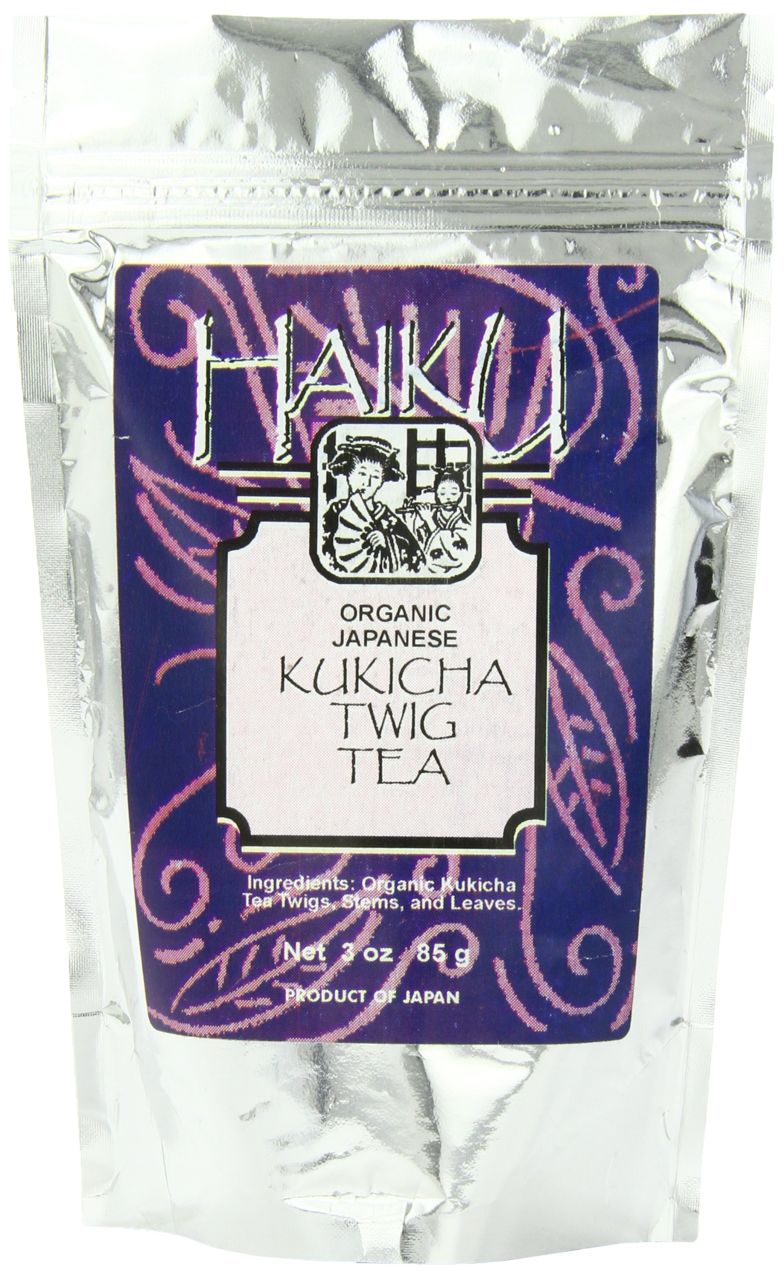 Haiku Organic Japanese Kukicha Twig Tea, 3 Ounce Loose Tea