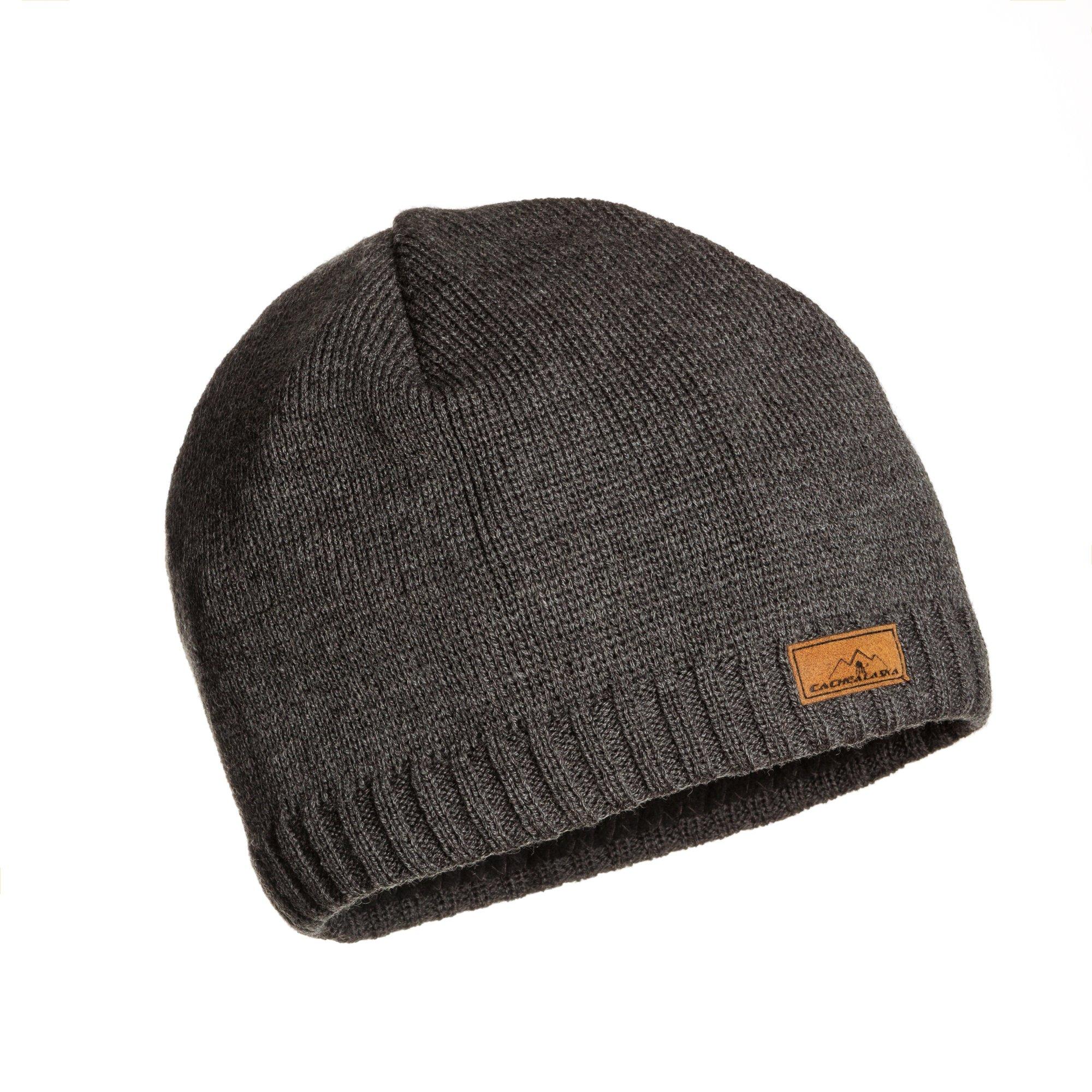 Beanie Wool Knit Skull Cap - Wool Blend Ski Hat Best Alaska Gift - Men or Women