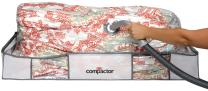 """Compactor Space Saver Vacuum Storage Solution Vacuum Bag to Protect Clothes, Pillows, Duvets, Comforters, Blankets (XL (41""""x18""""x6""""), Classic White)"""