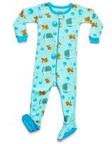 Leveret Baby Boys Girls Footed Pajamas Sleeper 100% Organic Cotton Kids & Toddler Pjs Sleepwear (6 Months-5 Toddler)