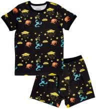 Trimfit Boys Organic Cotton 2-Piece Short Sleeve Dreamwear Pajama Set