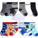 Non Skid Socks Toddler Socks with Grips 12 Pairs for 10-36 Months Toddlers Boy Girl with Laundry Mesh Bag