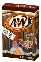A&W Singles To Go Powder Packets - Sugar Free, Non-Carbonated Root Beer Water Drink Mix (12 Boxes with 6 Packets Each - 72 Total Servings)