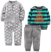 Simple Joys by Carter's Baby Boys' 3-Piece Fleece Playwear Set-Fleece Jumpsuit, Pants, and Sweater