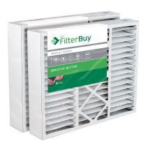 "FilterBuy 17.5x21x5 Rheem Ruud PD540010, PD540016 Compatible Pleated AC Furnace Air Filters (MERV 8, AFB Silver). Actual Size 17 1/8 x 20 5/8 x 4 3/8"". Fits air cleaner models RXHF-E17AM10 RXHF-E17AM13. 2 Pack."