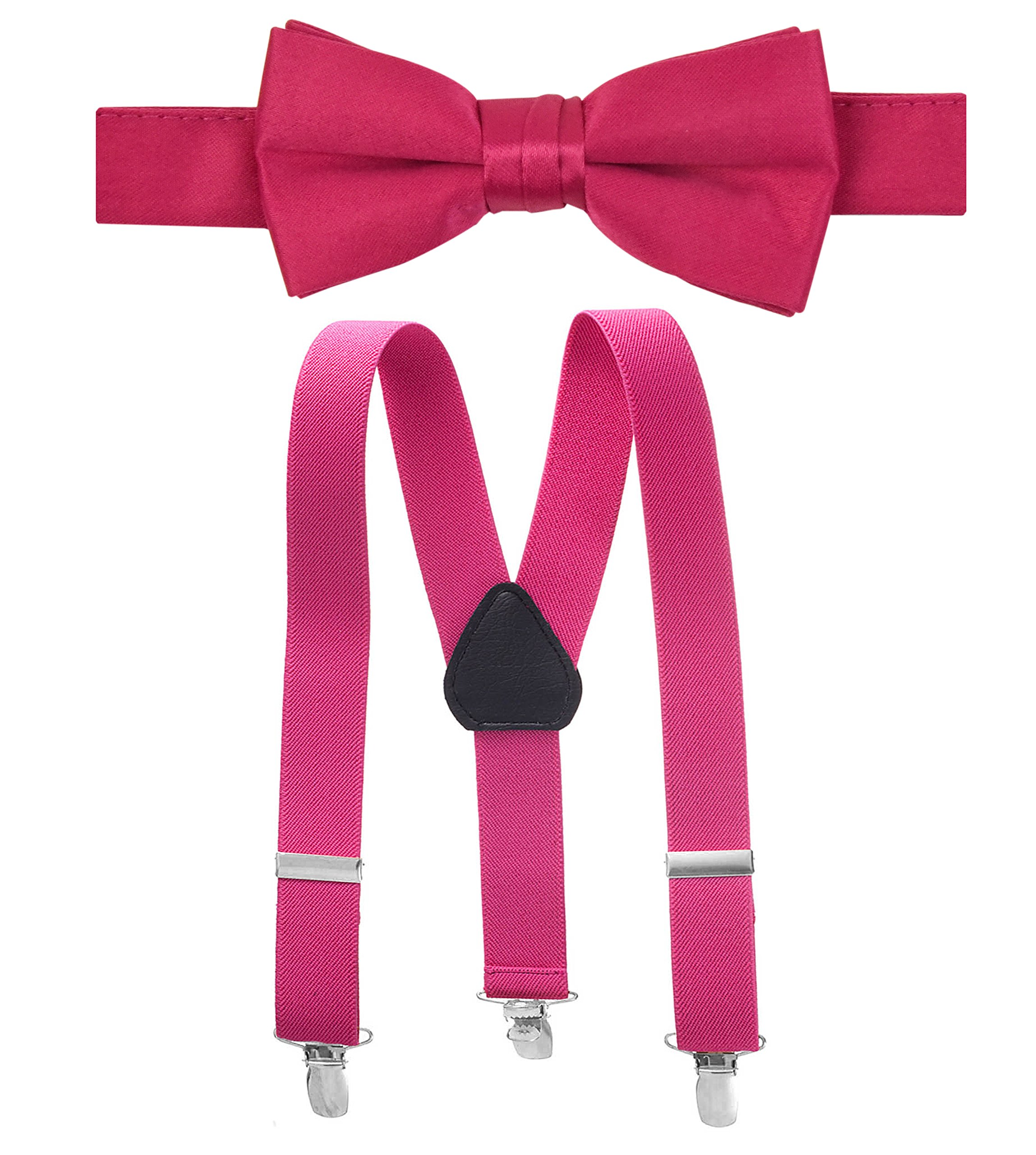 "Hold'Em Suspender Bow Tie Set for Kids, Baby Pre-tied Bow Tie, 1"" Suspender"
