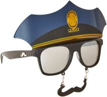 Costume Sunglasses Police Sun-Staches Party Favors UV400