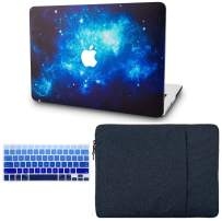 """KECC Laptop Case for MacBook Air 13"""" Retina (2020/2019/2018, Touch ID) w/Keyboard Cover + Sleeve Plastic Hard Shell Case A2179/A1932 3 in 1 Bundle (Blue 2)"""