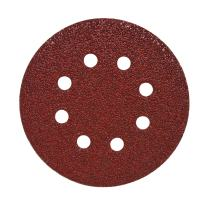 "Mercer Industries 5788100 Hook & Loop Red Heavyweight Disc, Aluminum Oxide, 5"" x 8 Dust Holes, Grit 100E, 50 Pack"
