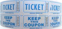 Raffle Tickets 2000 per Roll 50/50: Easy 2 Read Blueberry