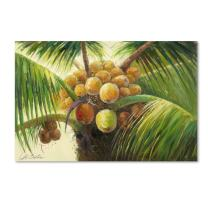 Coconut Palm II Artwork by Victor Giton, 22 by 32-Inch Canvas Wall Art