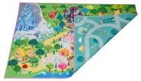 "Kids Double Sided Felt Play Mat - 2 in 1 Indoor/Outdoor, Machine Washable 59"" L x 39"" W… Save to Droplist Roll Over Image to Zoom in Kids Double Sided Felt Play Mat - (Princess/Town)"