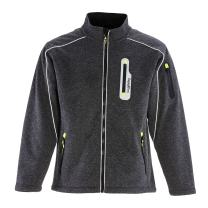 RefrigiWear Men's Fleece Lined Extreme Sweater Jacket with Reflective Piping