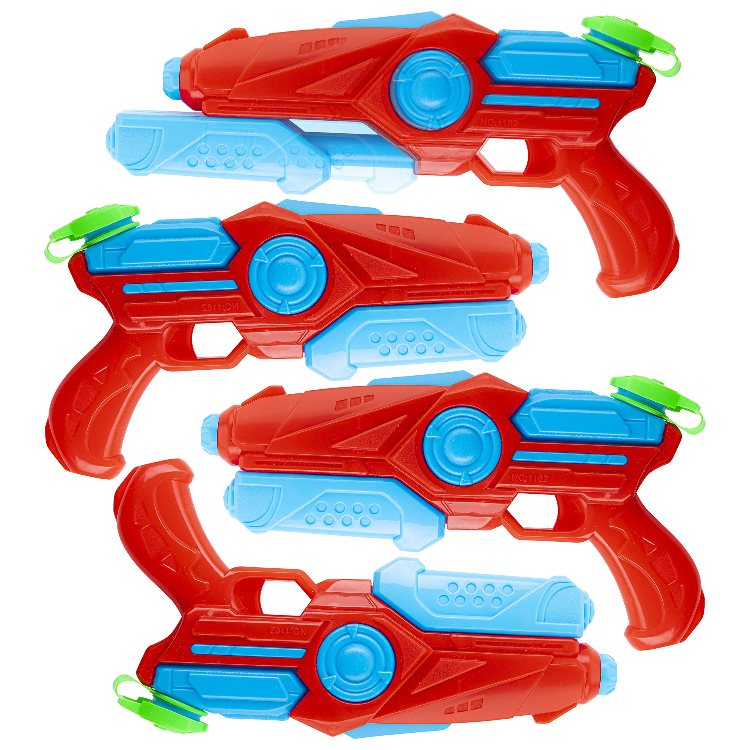 Pack of 4 Plastic Water Blaster Soaker Squirt Guns for Water Fighting Summer Pool Beach Toy for Kids