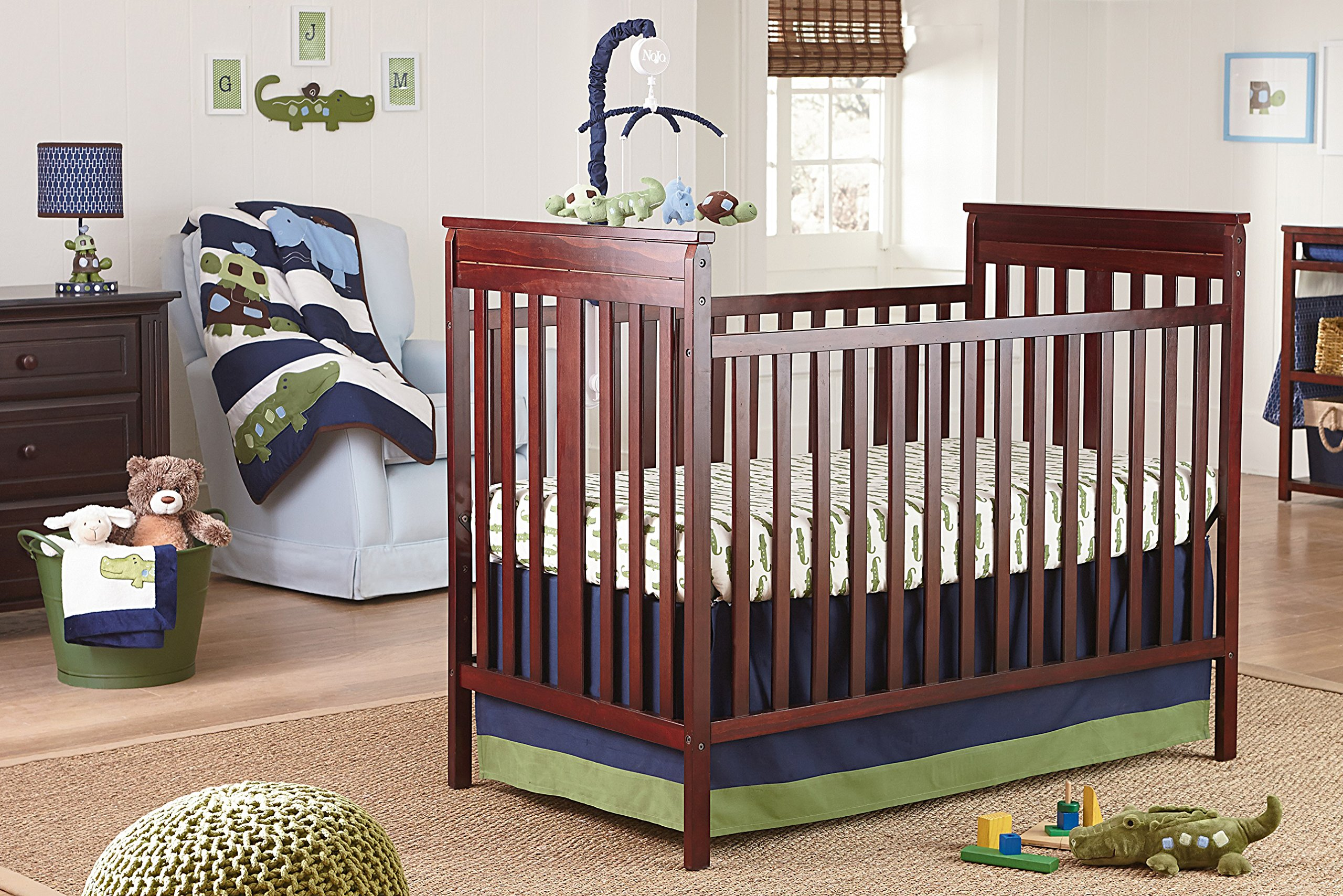 NoJo Alligator Blues 4 Piece Crib Set
