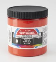 Speedball Acrylic Screen Printing Ink, 8 fl. oz, Fire Red 8 Fl Oz