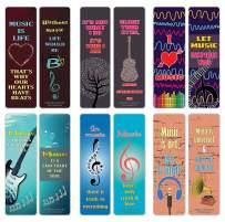 Creanoso Inspiring Music Sayings Bookmarks Series 3 (30-Pack) – Stocking Stuffers Gift for Men, Women, Adult, Teens, Musicians Boys & Girls – Concert Gift Giving – Music Rewards Incentives