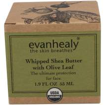 evanhealy Whipped Shea Butter with Olive Leaf, Calendula Infused Sunflower and Madagascar Vanilla Infused Coconut Oils, Heals Skin Conditions and Provides Protection for Sensitive Dry Skin, 1.9 Ounces