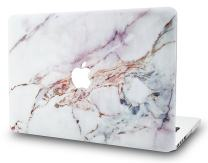 "KECC Laptop Case for MacBook Pro 13"" (2020/2019/2018/2017/2016) Plastic Hard Shell Cover A2159/A1989/A1706/A1708 Touch Bar (White Marble 4)"