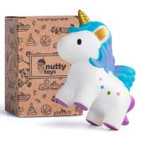 NUTTY TOYS Super Slow Rising Scented Unicorn Squishy - Unique Mother's Day Present Idea 2020, Best Kids & Adults Fidget Gift & Top Birthday Party Favor for Boys Girls Teens & Tweens Age 3 or More