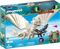 PLAYMOBIL How to Train Your Dragon III Light Fury with Baby Dragon & Children