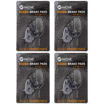 NICHE Brake Pad Set For Kawasaki KLR650 KL650 43082-1078 Front Semi-Metallic 4 Pack