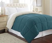 Modern Threads Down Alternative Microfiber Quilted Reversible Comforter/Duvet Insert Ultra Soft Bedding-Medium Warmth for All Seasons, Twin, Blue Coral/Oatmeal