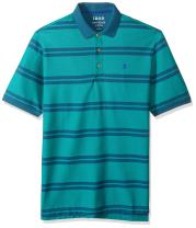 IZOD Men's Big and Tall Advantage Feeder Stripe Short-Sleeve Polo