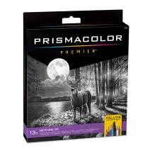 Prismacolor Premier Deluxe Sketching Set, Includes Sketching Pencils, Erasers, Dual-Ended Marker, Sharpener, 13 Count