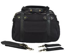 SoYoung Charlie Diaper Bag/Backpack - Unisex - Stylish Design - Changing Matt - Laptop Compartment - Bottle Pockets - Black