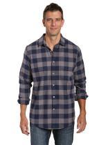 Noble Mount 100% Cotton Plaid Mens Flannel Shirts - Regular Fit