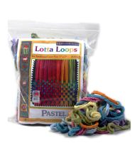 "Harrisville Designs Lotta Loops 7"" Standard Size Pastel Cotton Loops Makes 8 Potholders, Weaving, Crafts For Kids and Adults-Assorted Colors"