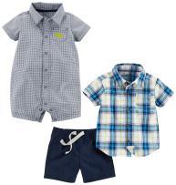 Simple Joys by Carter's Baby Boys' 3-Piece Fleece Playwear Set-Romper, Shorts, and Shirt