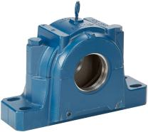 """SKF SAF 524 Spherical Roller Bearing Housing, 4 Bolts, Cast Iron, Inch, 16-1/2"""" Housing Length, 13-7/8"""" Bolt Hole Spacing Width"""