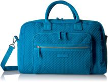 Vera Bradley Women's Microfiber Compact Weekender Travel Bag