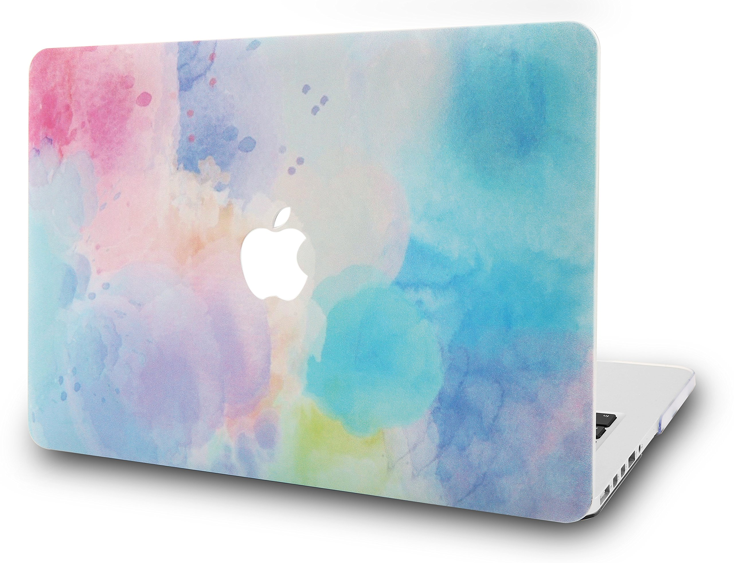 "KECC Laptop Case for MacBook 12"" Plastic Case Hard Shell Cover A1534 (Rainbow Mist 2)"